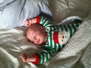 Sleeping peacefully on Christmas morn